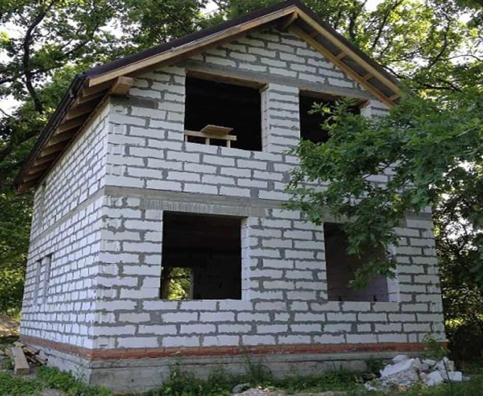 дом 6х6 из пеноблоков