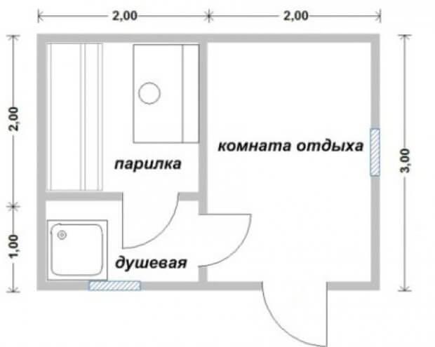Проект бани 3 х 4 Воронеж