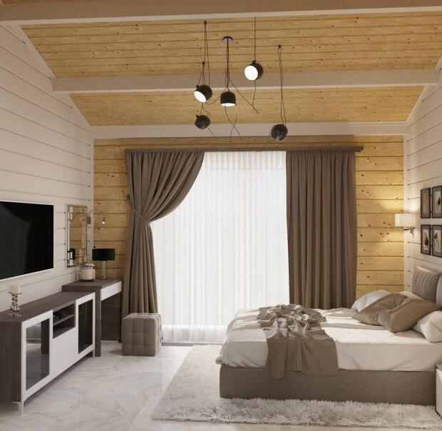 Спальня из клееного бруса