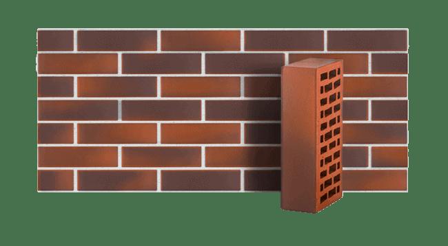 Кирпич керамический пустотелый красный флешинг гладкий ЛСР 1 НФ