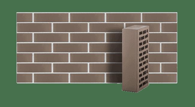 Кирпич керамический пустотелый серый гладкий ЛСР 1 НФ