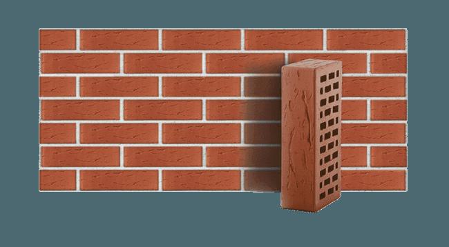 Кирпич керамический пустотелый темно красный рустик ЛСР 1 НФ